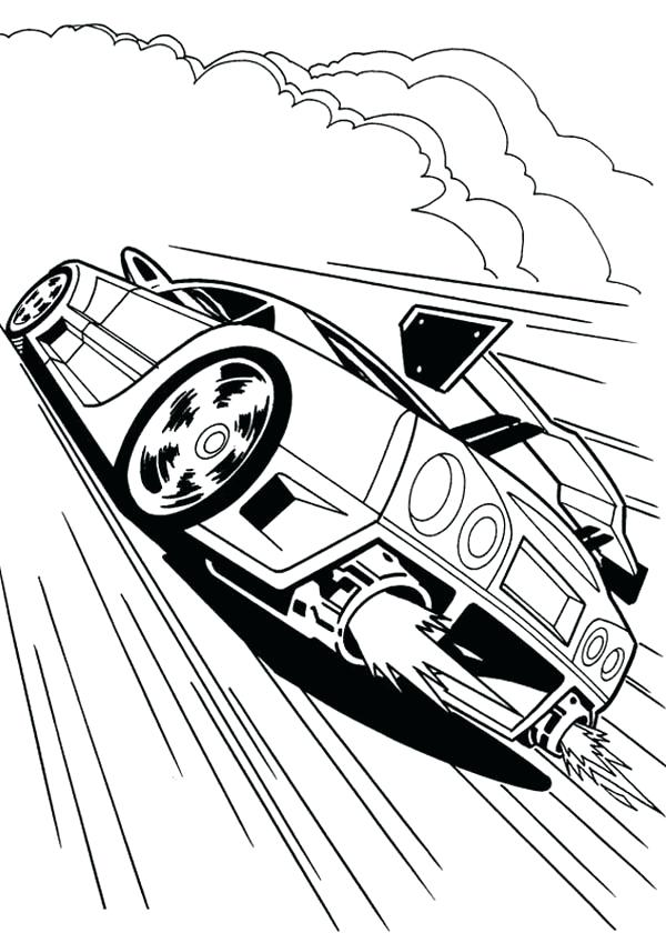 600x840 Printable Track And Field Coloring Pages Vehicles Hot Wheels Fire
