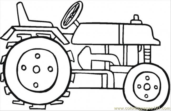 650x422 Modern Tractor Coloring Page Coloring Page