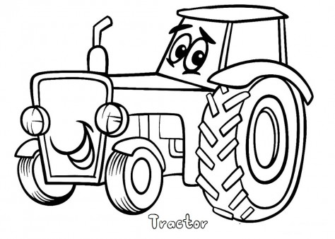474x338 Print Out Tractor Coloring Pages