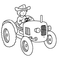graphic regarding Printable Tractor Coloring Pages called Tractor Coloring Webpages at  No cost for