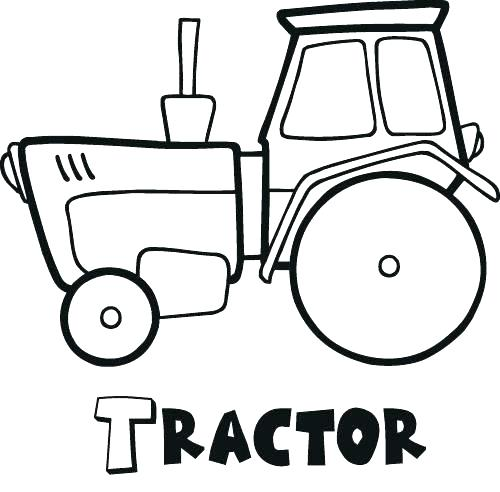 500x492 Tractor Color Pages Tractor Coloring Pages Johnny Books John