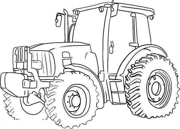 600x429 Big Wheel Tractor Coloring Page