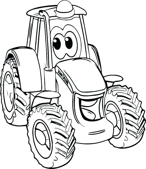 618x714 Tractor Coloring Pages Barnyard Coloring Pages Farm Tractor