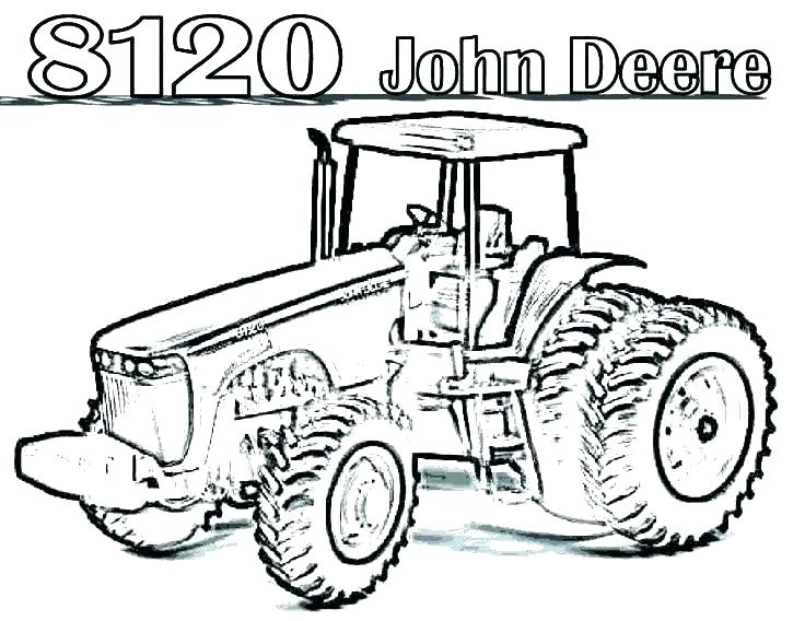 736x568 John Deere Tractor Coloring Pages