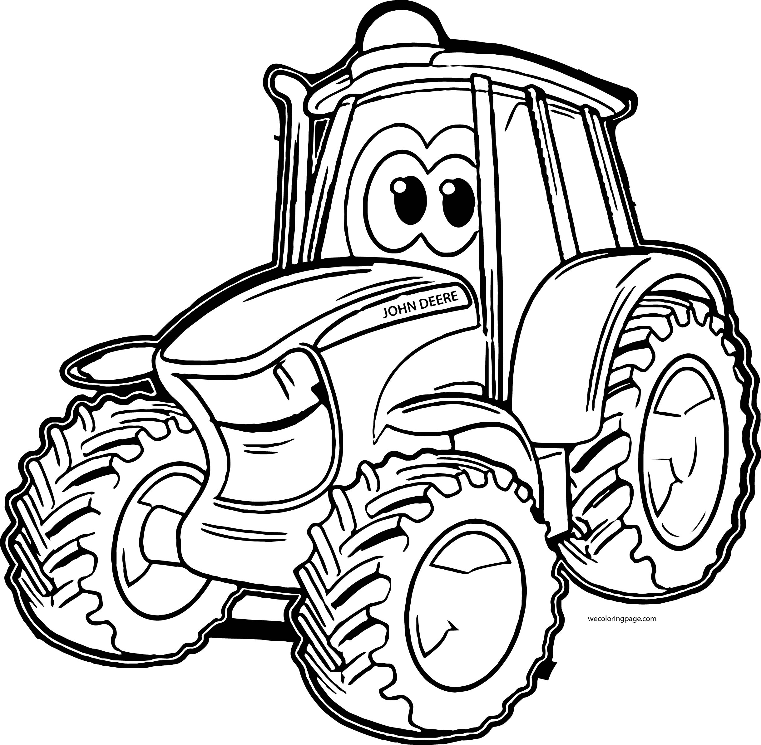 2437x2387 Tractor Coloring Page Endorsed Pages John Deere Color Tractor