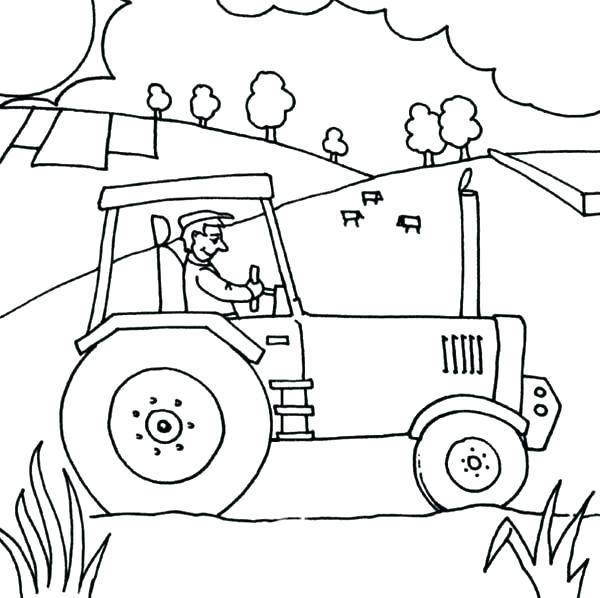 600x598 Tractor Trailer Coloring Pages