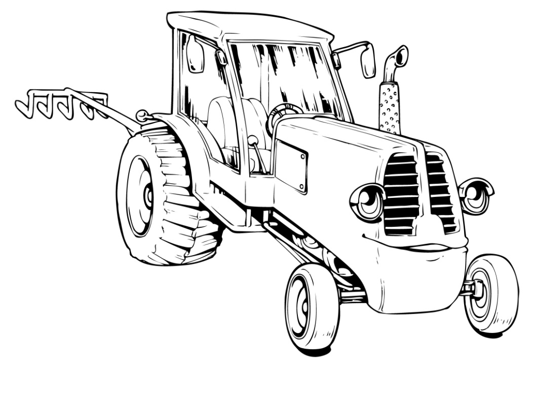 1056x816 Free Tractor Coloring Pages To Print