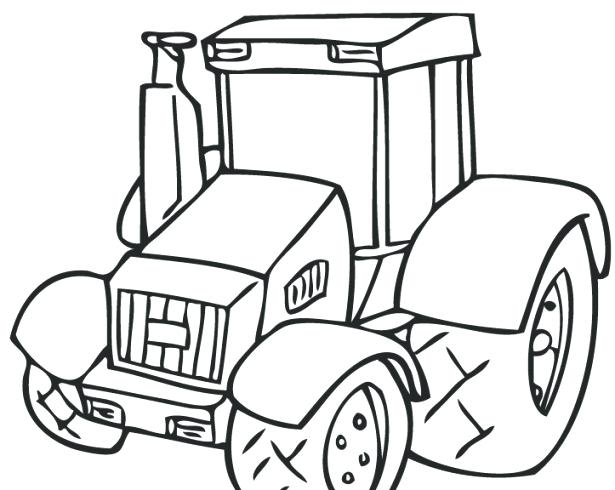 615x490 Printable Tractor Coloring Pages Breathtaking Tractor Coloring