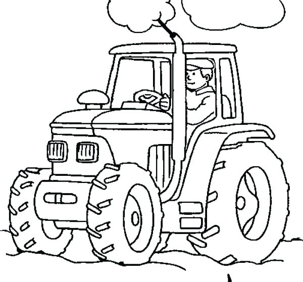 600x558 Stunning Coloring Pages Tractors Tractor Coloring Books