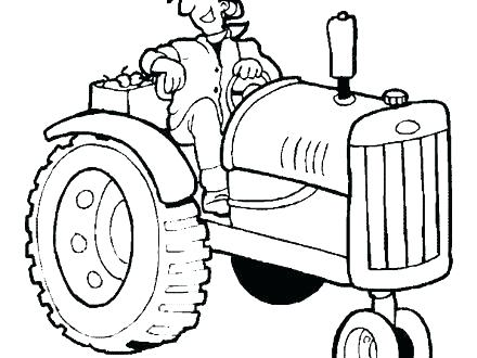 440x330 Tractor Color Pages Tractor Coloring Book John Deere Tractor Color