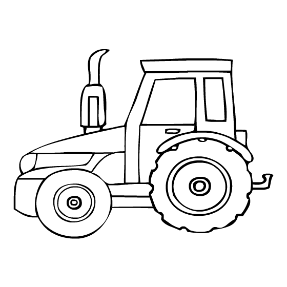 560x560 Tractor Coloring Pages