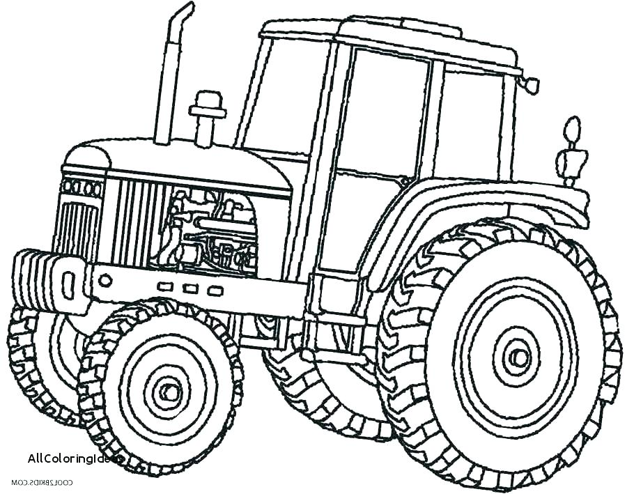 910x709 Tractor Coloring Pages Combine Coloring Pages Best Tractor