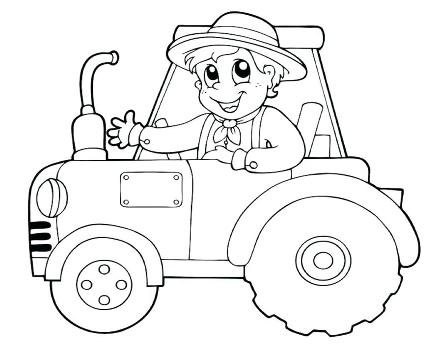 894x702 Tractor Coloring Pages Printable Printable Tractor Coloring Pages