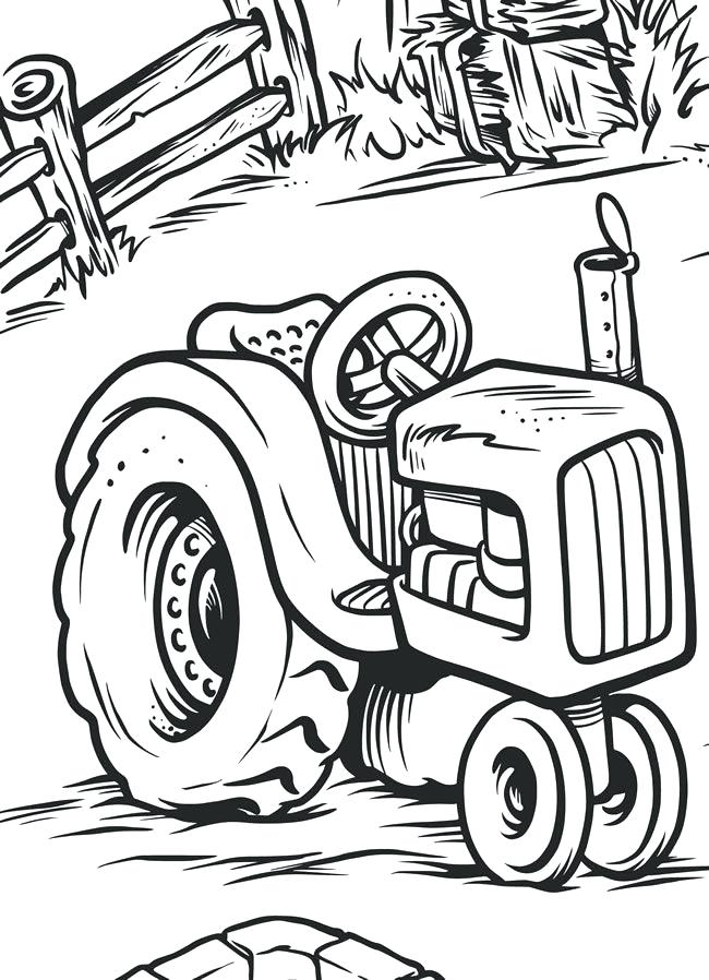 650x898 Tractor Coloring Book