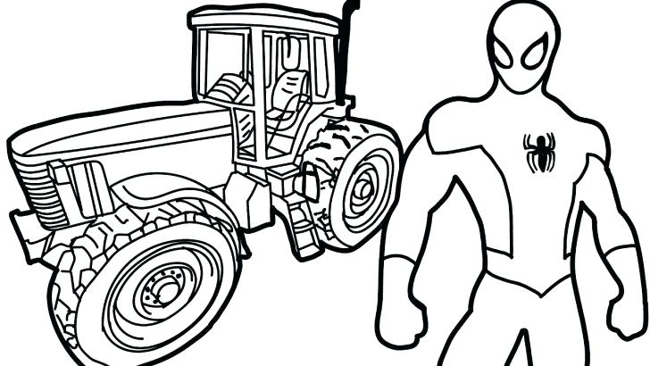 728x410 Coloring Pages Tractors Tractor And Trailer Toy Coloring Pages X