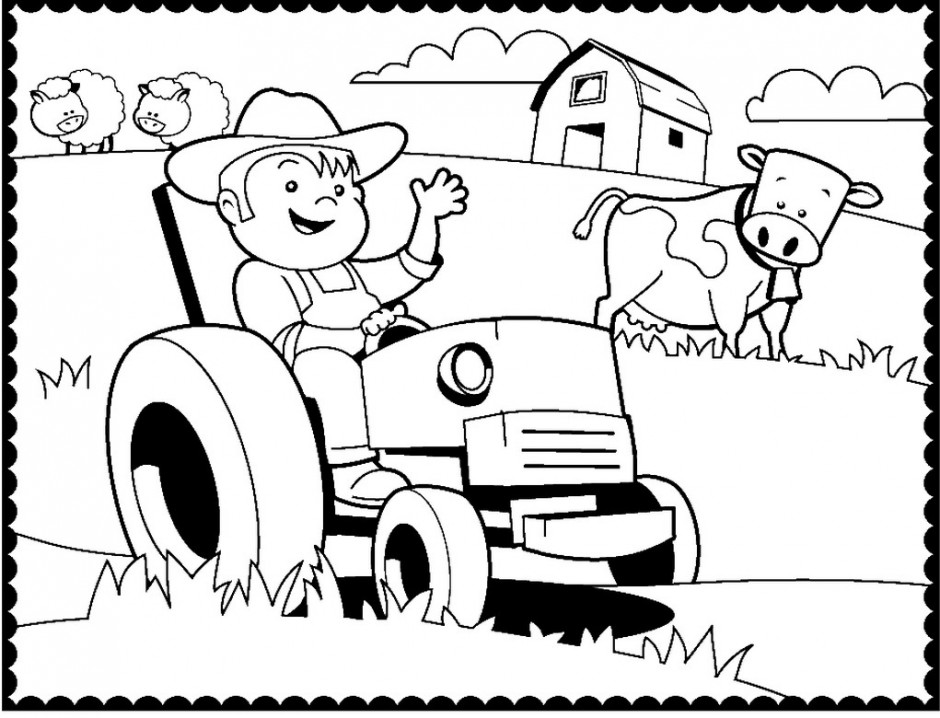 Tractor Coloring Pages For Kids At Getdrawings Free Download