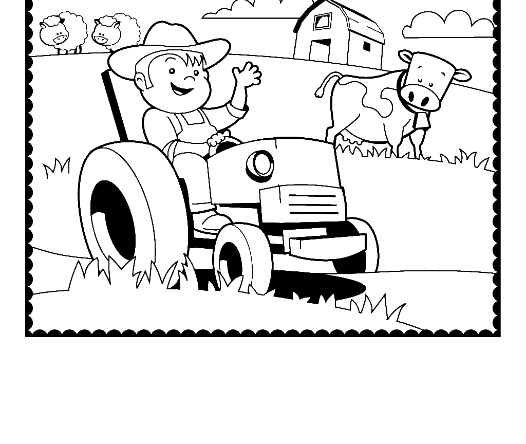 1024x864 Preschool Printable Farm Coloring Pages Page Pictures Free Animal
