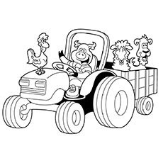 230x230 Top Free Printable Tractor Coloring Pages Online Tractor