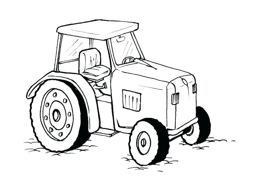 875x620 Tractor Coloring Pages For Toddlers A Coloring Pages Kids Tractor