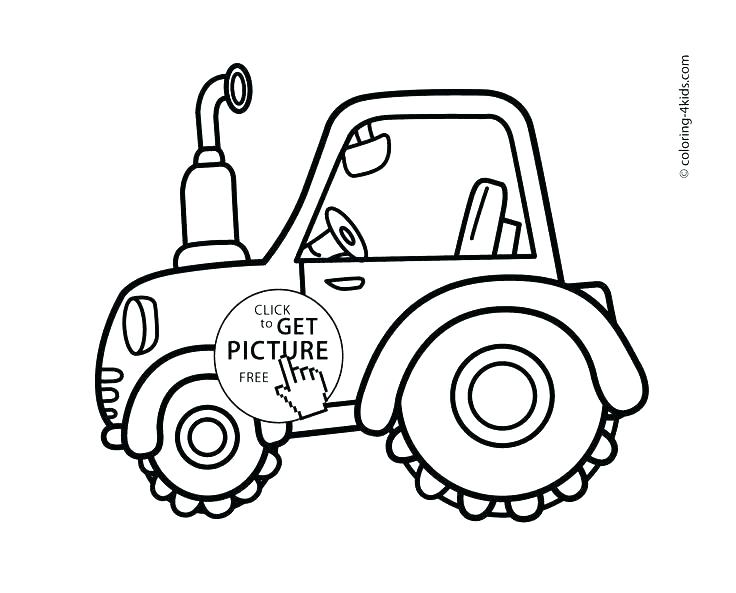736x593 Tractor Coloring Pages For Toddlers John Best To Print Best