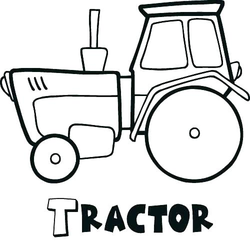 500x492 Tractor Coloring Pages Printable New Tractor Coloring Pages