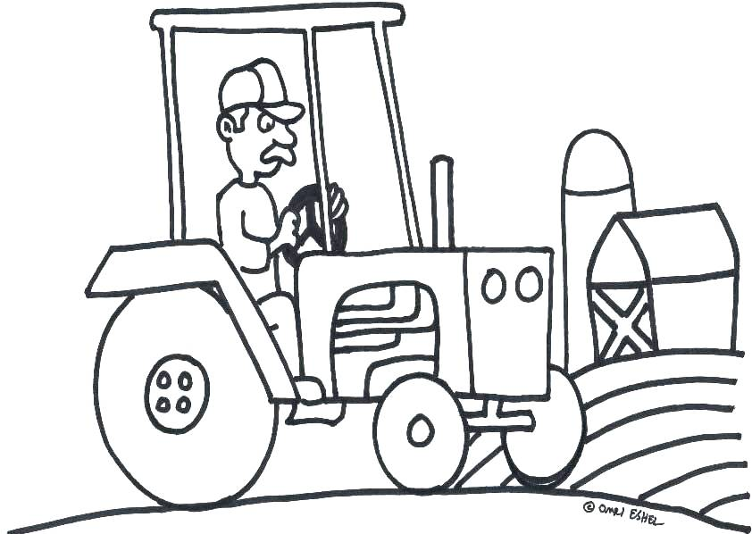 842x598 Tractor Coloring Pages