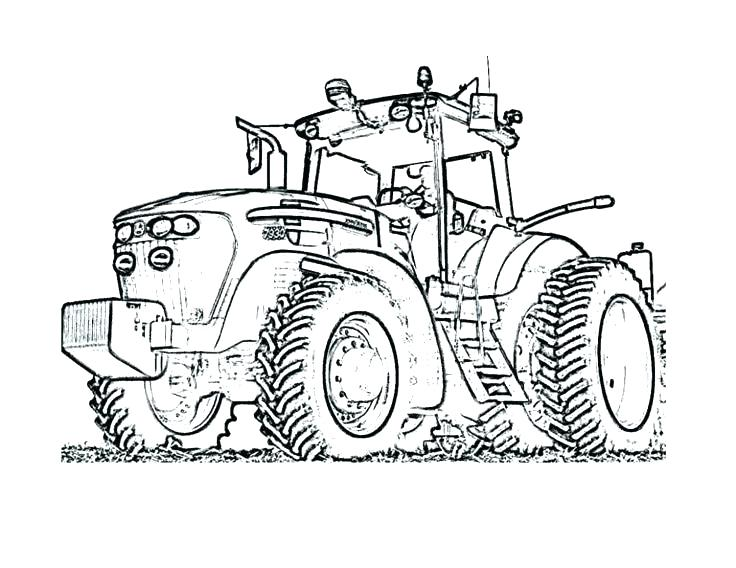 736x568 Printable Tractor Coloring Pages Tractor Coloring Pages Easy