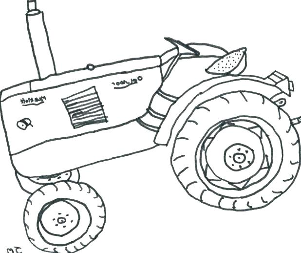 618x518 Stunning Coloring Pages Tractors Tractor Trailer Coloring Page