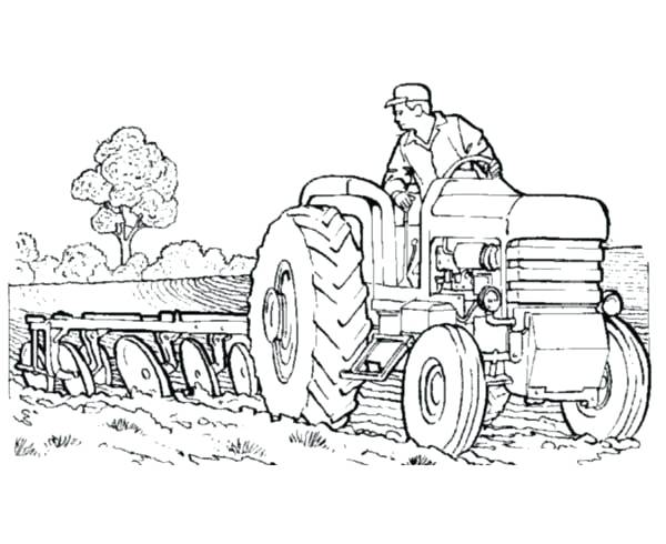 600x490 Tractor Coloring Pages Best Tractor Coloring Pages To Print