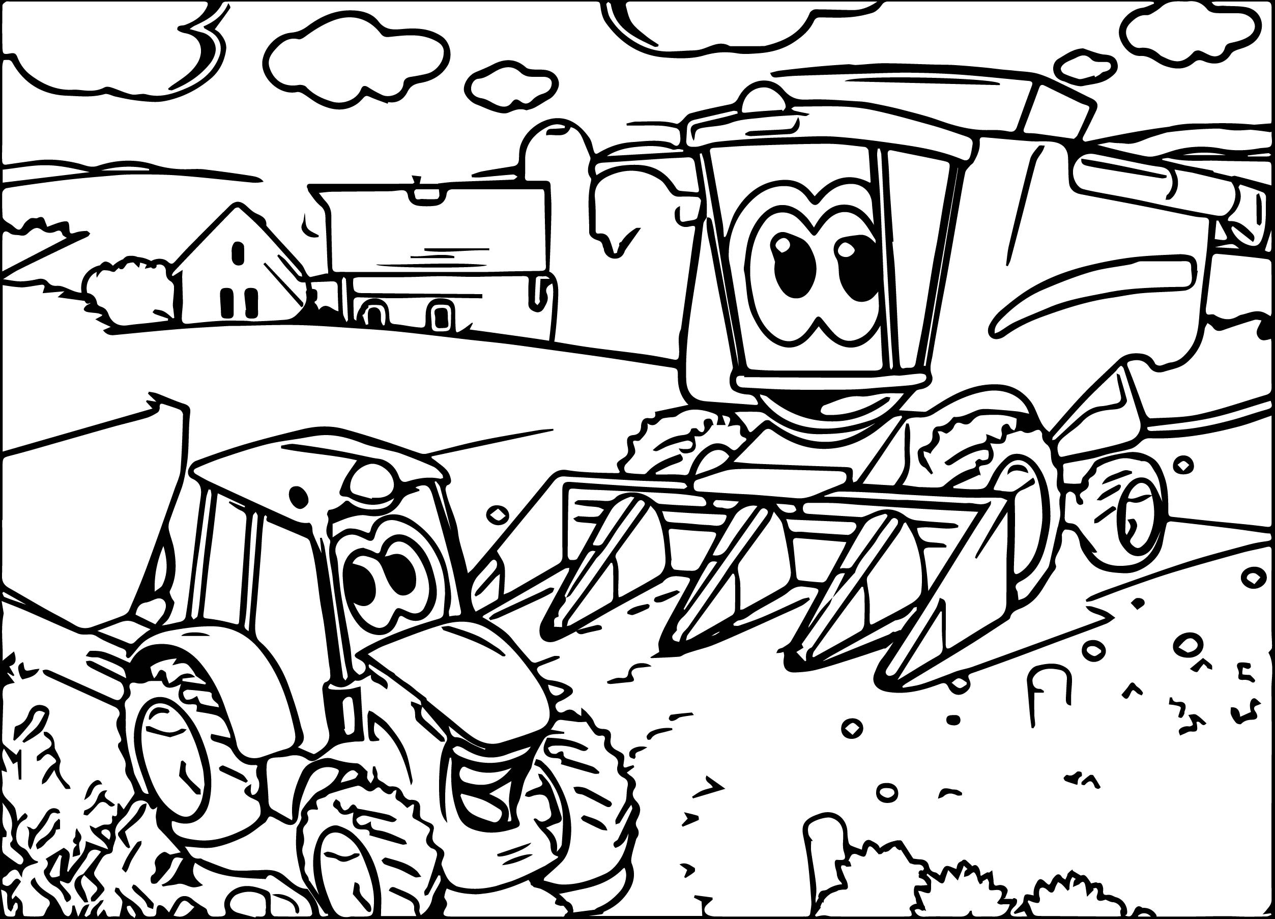 2506x1806 Tractor Trailer Coloring Page Free Printable Sheets Incredible