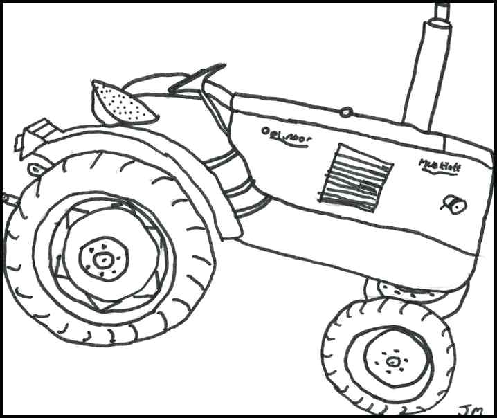 718x604 Tractor Trailer Coloring Pages Printable Tractor Coloring Page