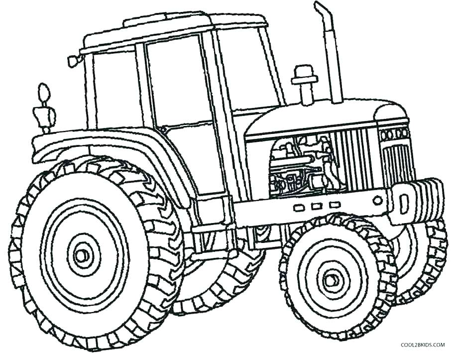 910x709 Tractor Trailer Coloring Pages Tractor Coloring Pages Tractor