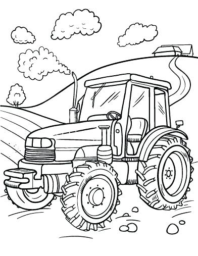 392x507 Tractor Coloring Page