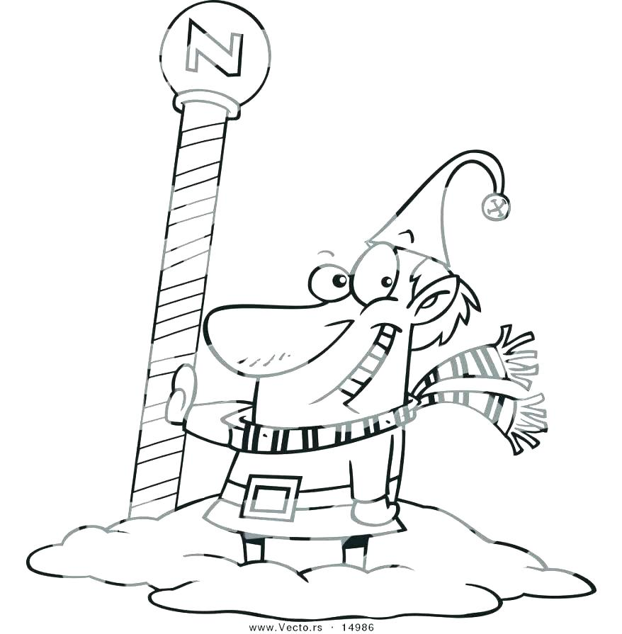 878x895 Stop Light Coloring Page Light Coloring Page North Pole Coloring