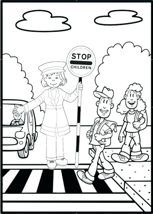 496x694 Bus Stop Sign Printable Kids Coloring Stop Light Coloring Page