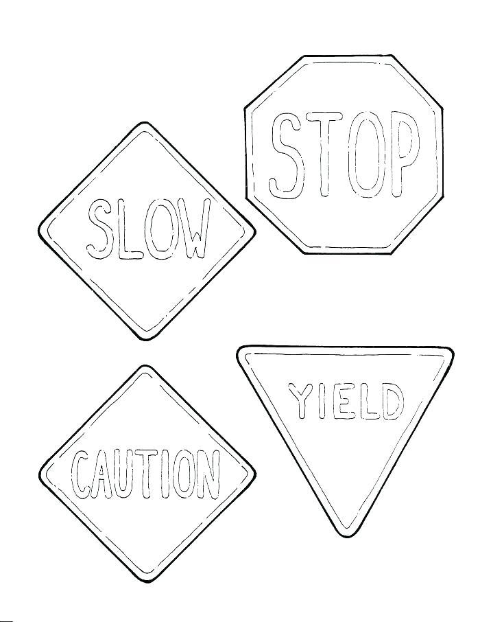 700x906 Stop Sign Coloring Sheet