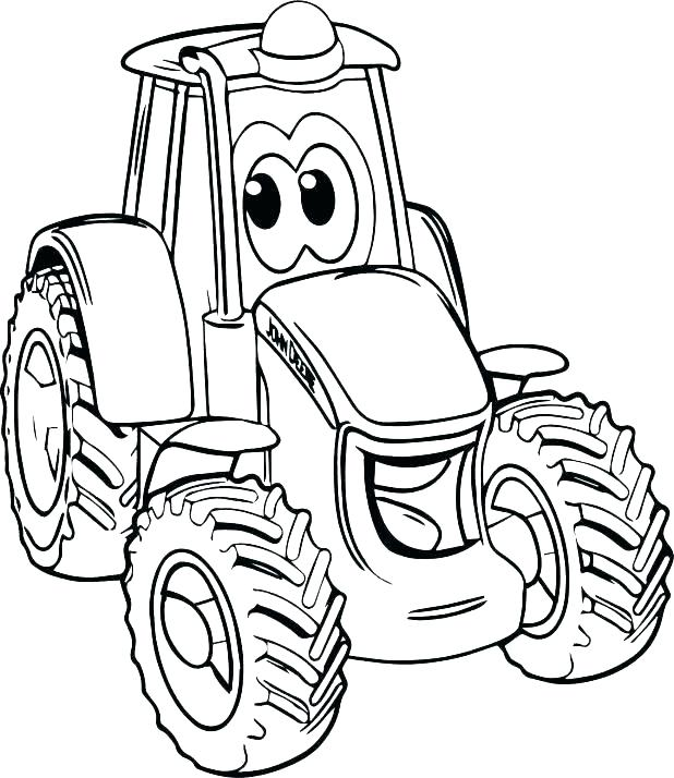 618x714 Coloring Pages Tractor Coloring Pages Of Pulling Tractors