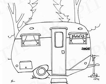 340x270 Instant Download Vintage Airstream Travel Trailer