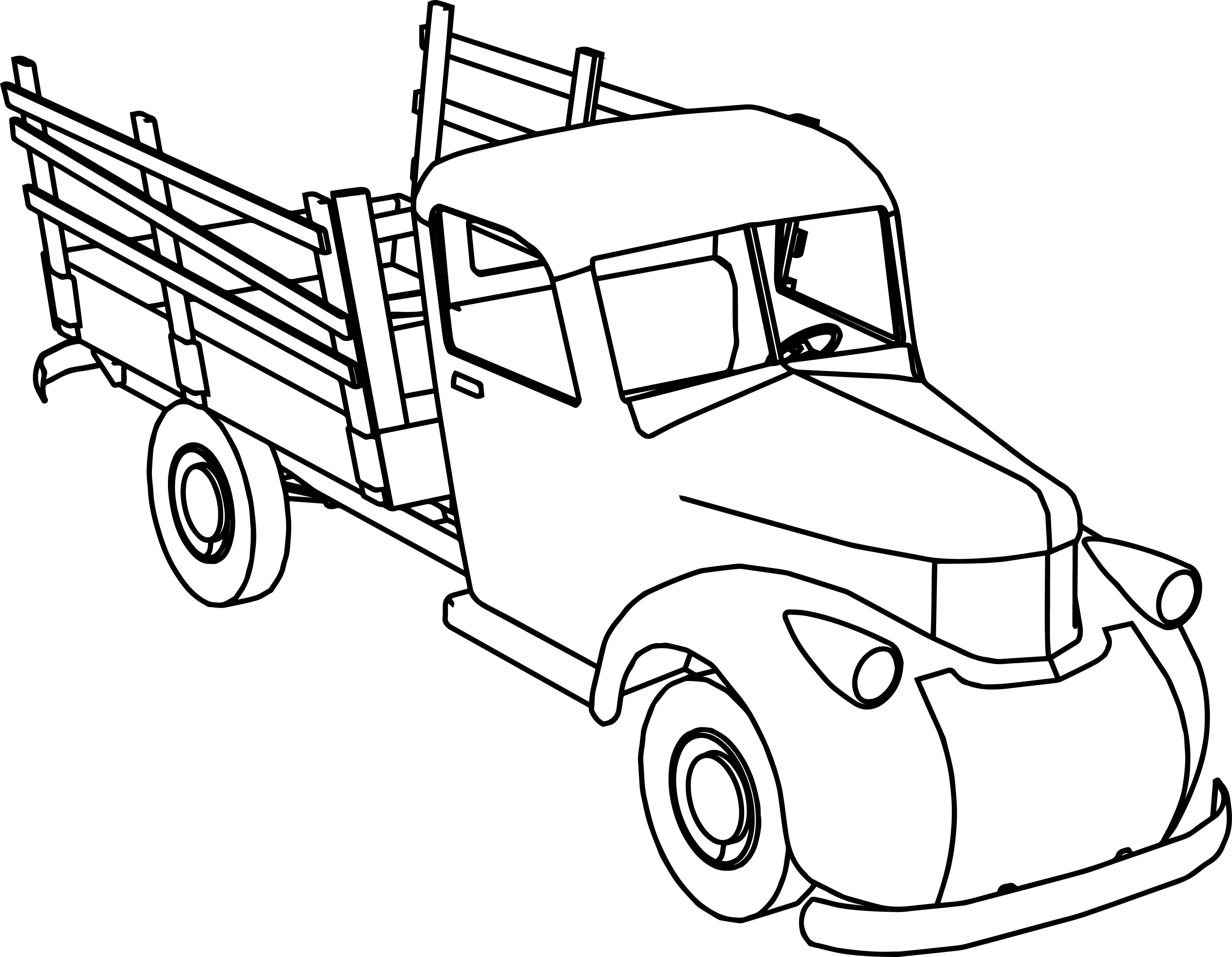 3323x2583 New Pickups With Cow Trailer Coloring Pages Gallery Great