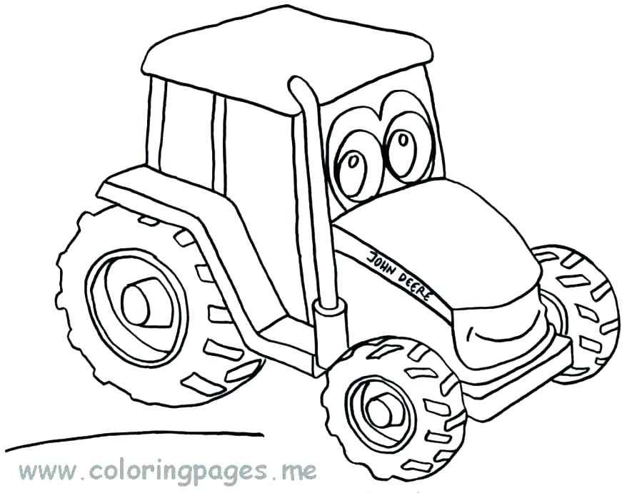 878x691 Tractor Coloring Pages Combine Coloring Pages Best Tractor