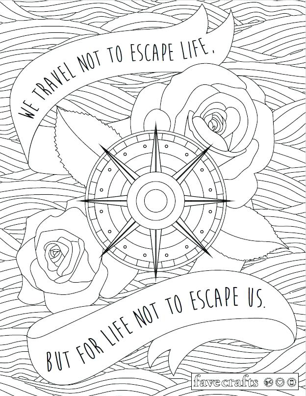 624x807 Travel Coloring Pages Travel Escape Adult Coloring Page Travel