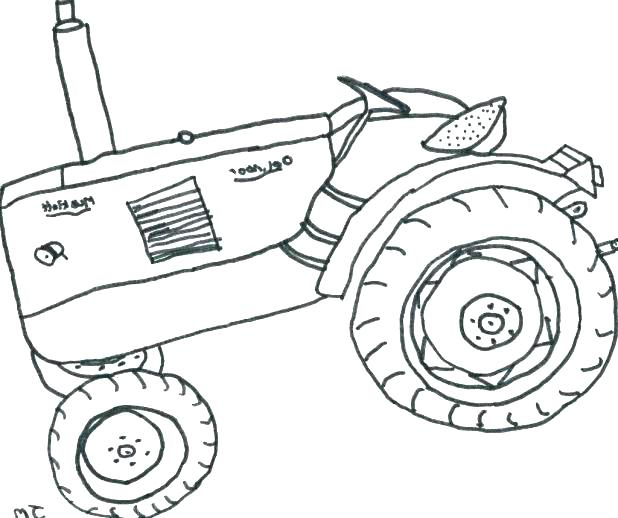 618x518 Coloring Book Tractor