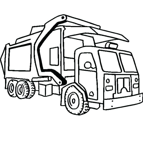 600x600 Semi Truck Coloring Page