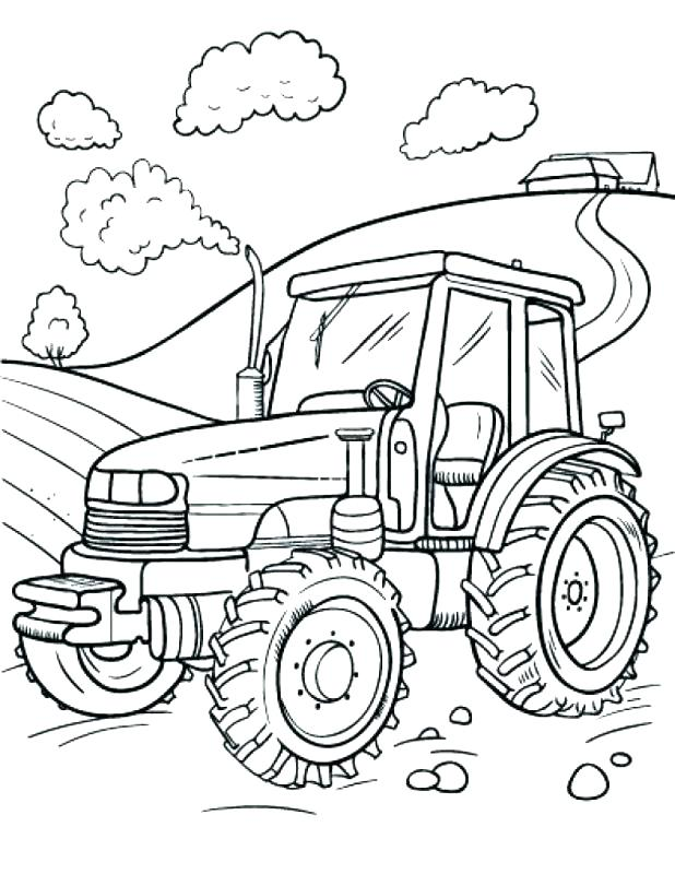 618x800 Tractor Trailer Coloring Pages