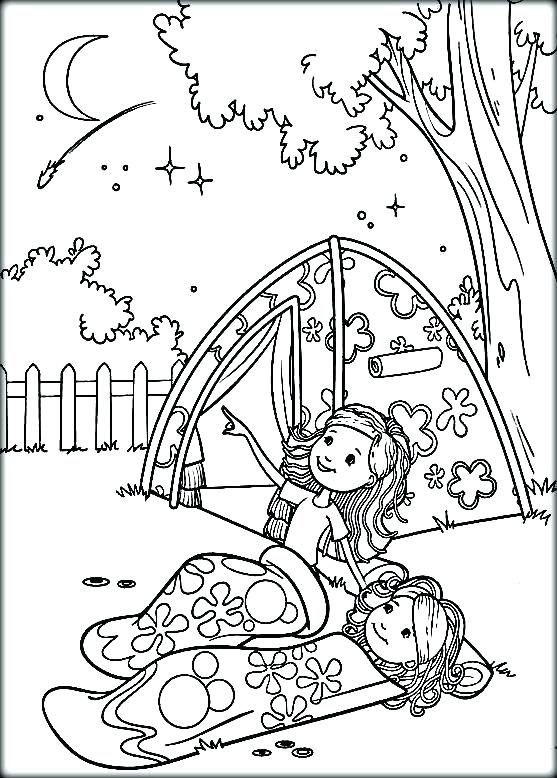 557x778 Camping Coloring Page Camping Coloring Pages Girl Scout Picture