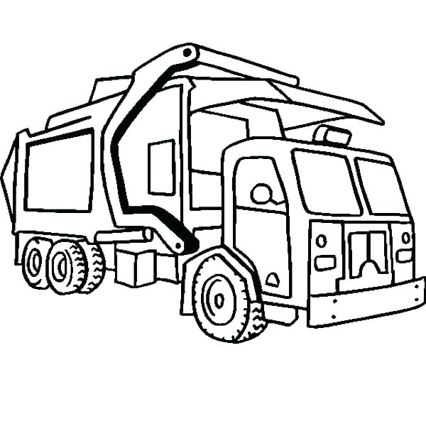 600x600 Semi Truck Coloring Page Truck And Trailer Coloring Pages Perfect