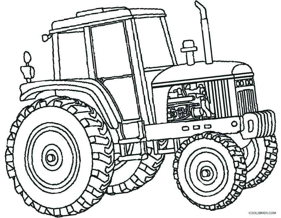 910x709 Tractor Trailer Coloring Pages Tractor Coloring Pages Tractors