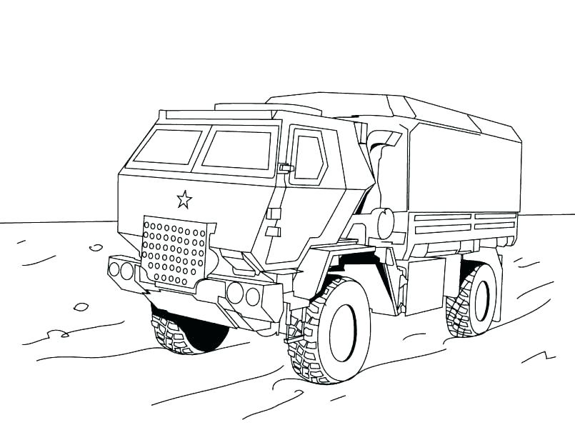805x623 Truck And Trailer Coloring Pages Tractor Printable Farm John Semi
