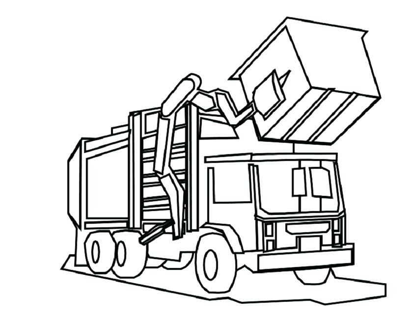 841x650 Truck Coloring Pages Free Page Perfect For Colouring With Fire