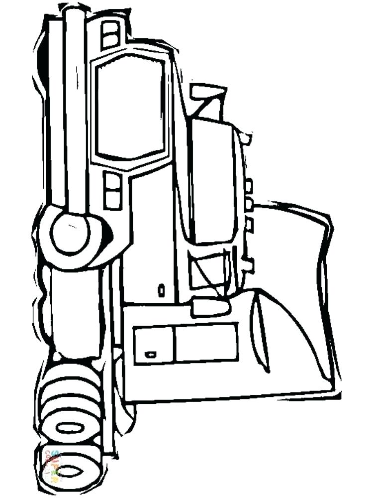 750x1000 Semi Truck Coloring Page